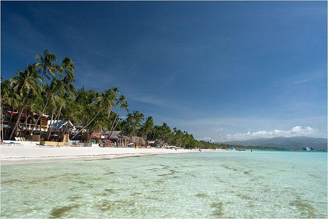 White beach panoramic