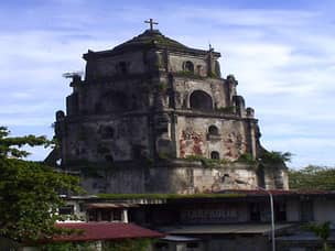 Sinking bell tower in Laoag