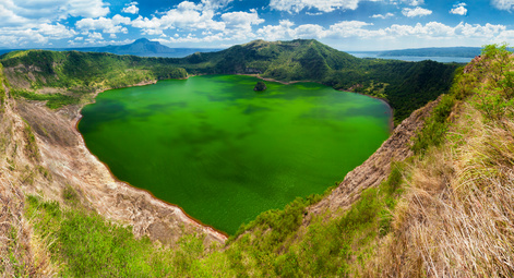Taal volcano crater lake
