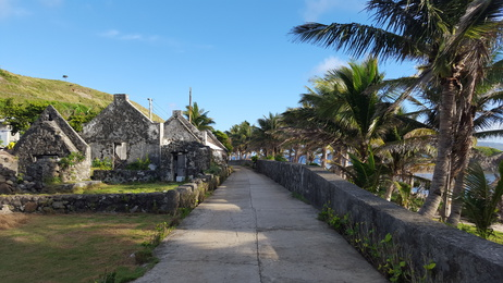 Village by the ocean in Batanes