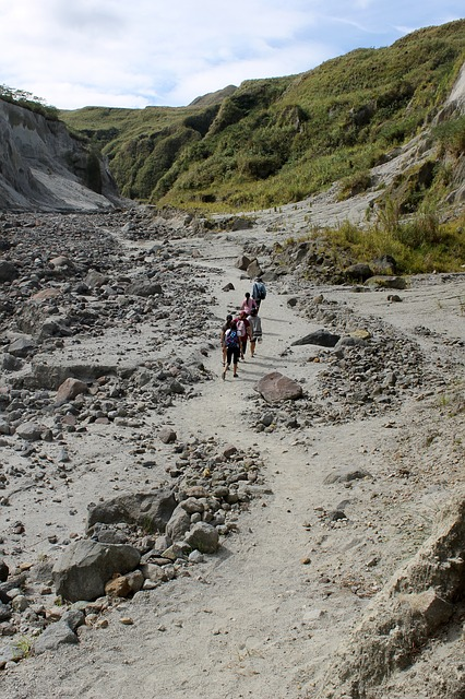 trekking at Mt. Pinatubo