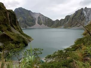 View of crater at Pinatubo