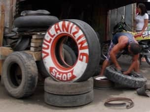 Tire repair shop in Philippines