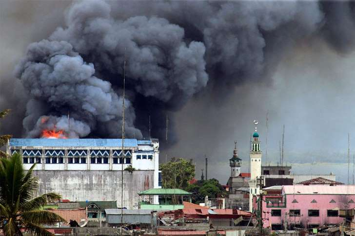 Marawi city bombing by military
