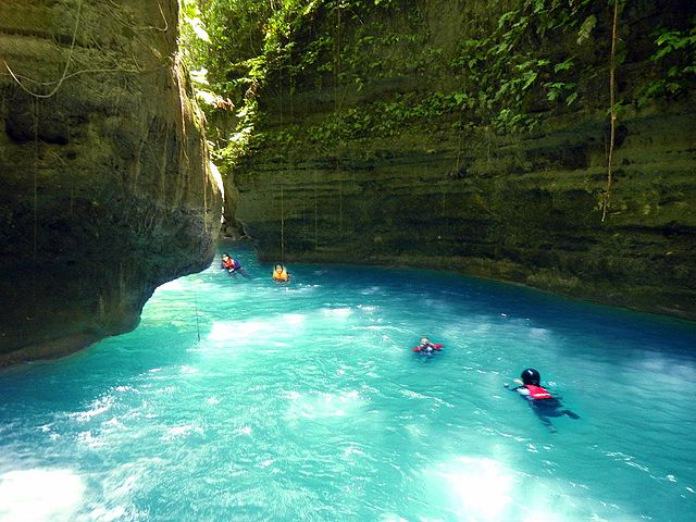 Kawasan Falls canyoneering in Cebu Island