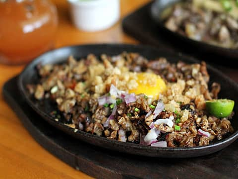 Pork Sisig steet food dish