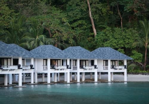 Lagen Island Resort water cottages