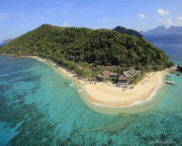 Pangalusian Island Resort view from above