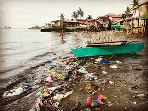 Beach pollution in Subic bay