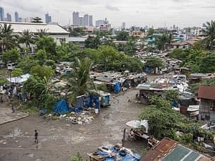 Typical slum in Manila