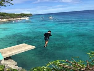 Siquijor beach tour cliff jump