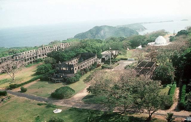 WW2 ruins in Corregidor Island