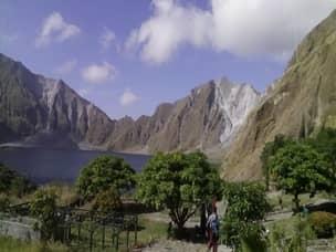Panoramic view of Mt.Pinatubo