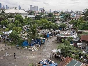 Typical slum in Manila